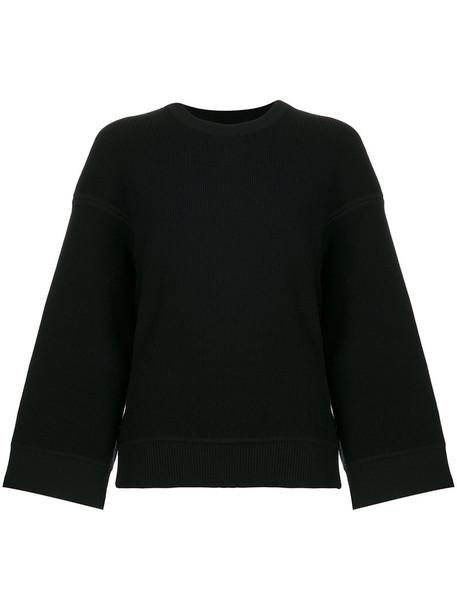 Maison Rabih Kayrouz - oversized sweatshirt - women - Wool - 36, Black, Wool