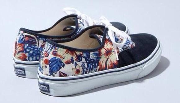 shoes vans floral vans
