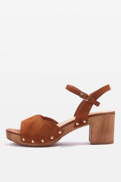 Topshop tan sandals shoes