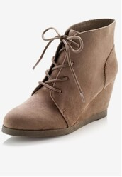 shoes,tan,booties shoes,wedges,ankle boots,taupe
