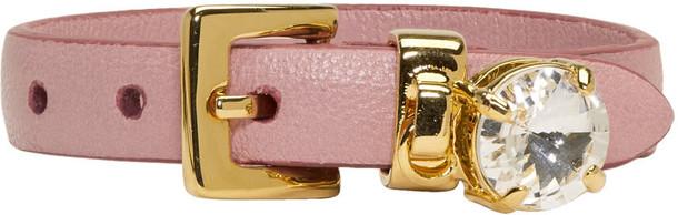 Miu Miu charm bracelet pink jewels