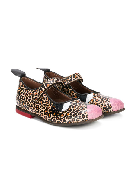 PePe leather print leopard print shoes