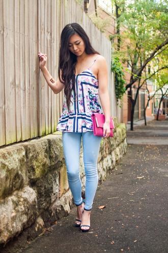 metallic paws blogger tank top shoes jeans bag