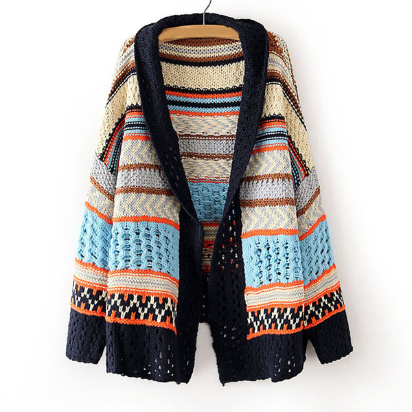 coat cute knit colorful