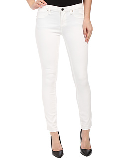 Blank NYC White Crop Skinny in White Lines