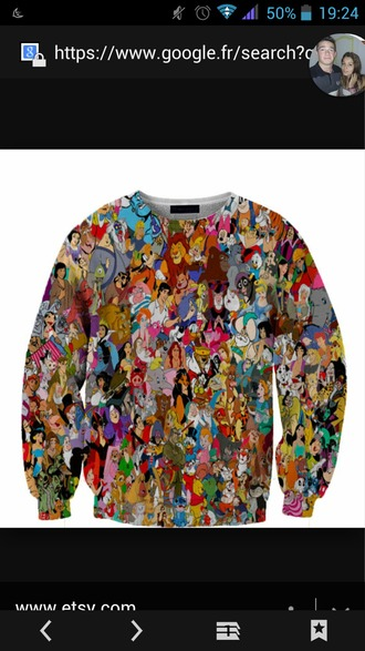 sweater multicolore disney sweater disney disney characters