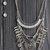 Aztec Queen Statement Necklace - Silver
