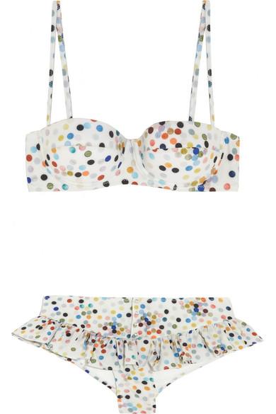Rosamosario|Dizzy Bubbles Chandon polka-dot underwired bikini|NET-A-PORTER.COM