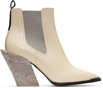 boots chelsea boots white off-white shoes