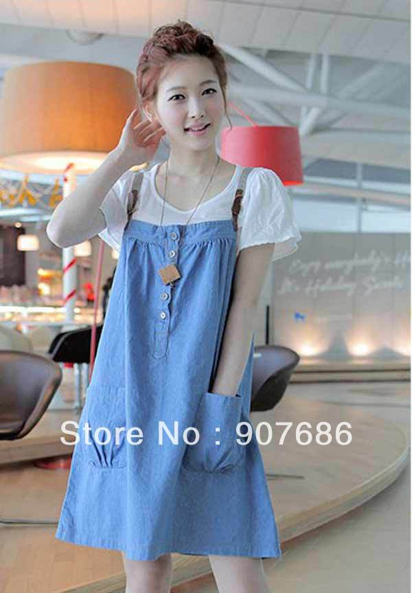 Pregnant Maternity Skirt Maternity Dresses Jeans Suspenders Skirt Dress Women Mother Clothes #9637 | Amazing Shoes UK