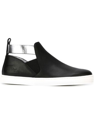cut-out sneakers black shoes