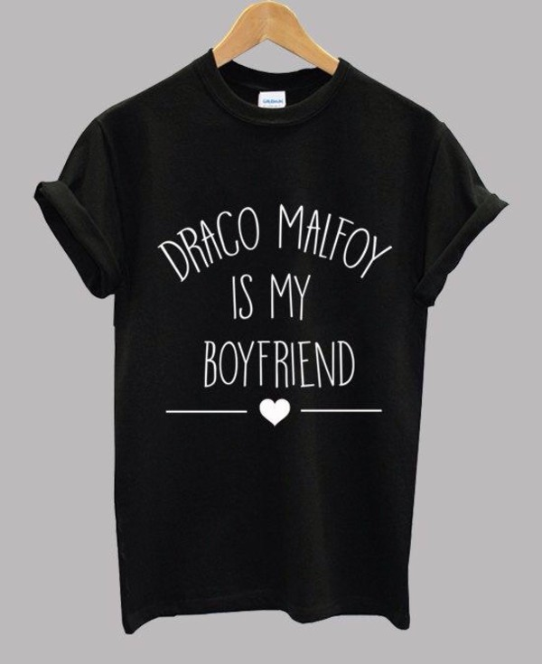 shirt harry potter draco black white