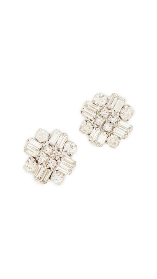Stella + Ruby Stella + Ruby Statement Crystal Earrings in silver