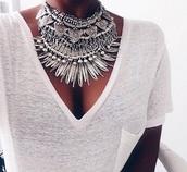 jewels,tribal  ethnic,silver necklace,ethnic jewellery