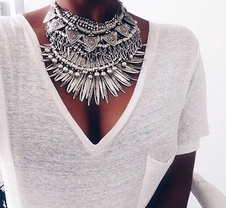 jewels tribal  ethnic silver necklace ethnic jewellery