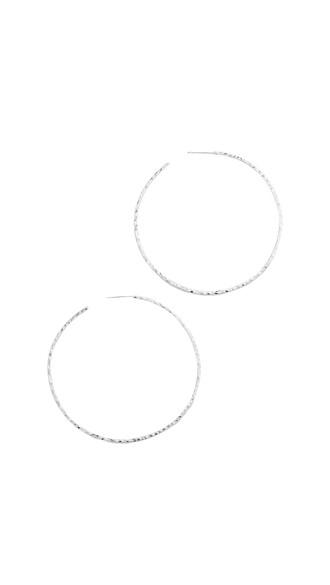 earrings hoop earrings silver jewels
