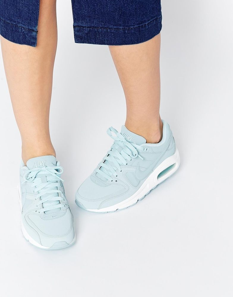 various colors 4bea7 78b4e Nike Air Max Command Trainers Ice Blue Womens Size 7