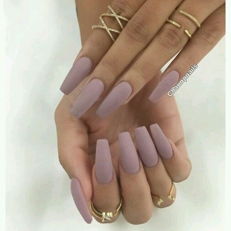 nail polish nails nude pretty ring jewels jewelry knuckle ring gold ring bling gold