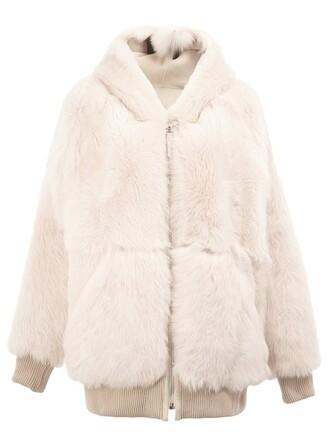 jacket fur faux fur purple pink