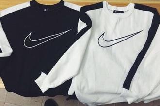 sweater black and white sweatshirt nike black white crewneck