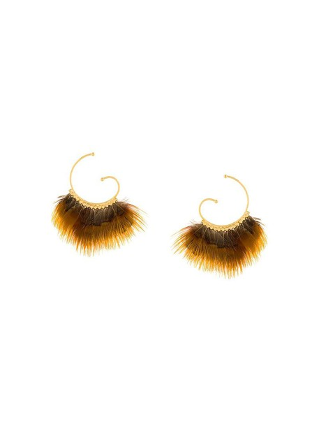Gas Bijoux women earrings yellow orange jewels