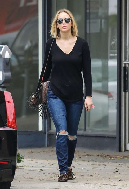 Jeans top fall outfits jennifer lawrence shoes wheretoget jeans top fall outfits jennifer lawrence shoes voltagebd Image collections
