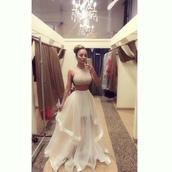 prom dress,dress,bun,classy dress,gossip girl blair dress