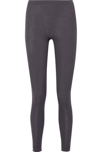 Hanro leggings silk charcoal pants