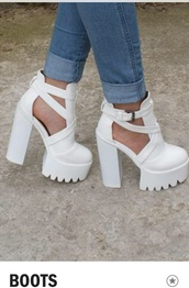 shoes,cleated boots,platform boots,platform heels,cleated heels,cleated sole,cleated sole platforms,boots