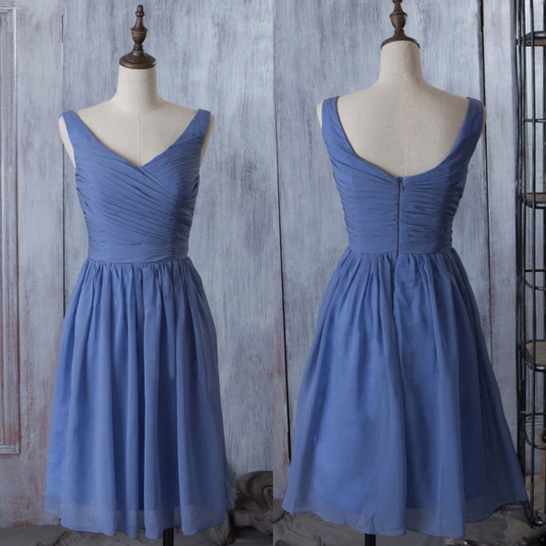 29180f2ae66c dress prom prom dress mini mini dress sky blue blue denim sexy sexy dress  fashion style