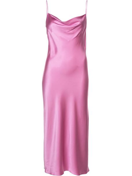 Fleur du Mal dress slip dress women silk purple pink