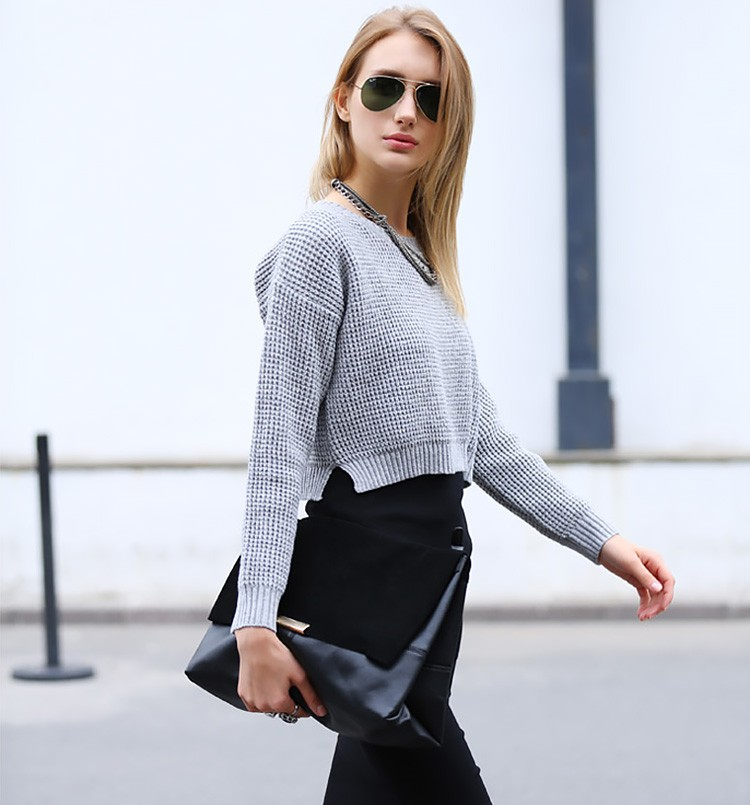 Dropped Shoulder Cropped Jumper