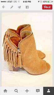fringes,booties,boots,booties peep toe wedge,heels,shoes,peep toe boots