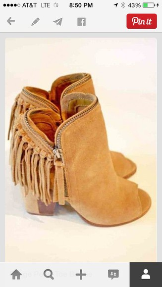 fringe boots booties