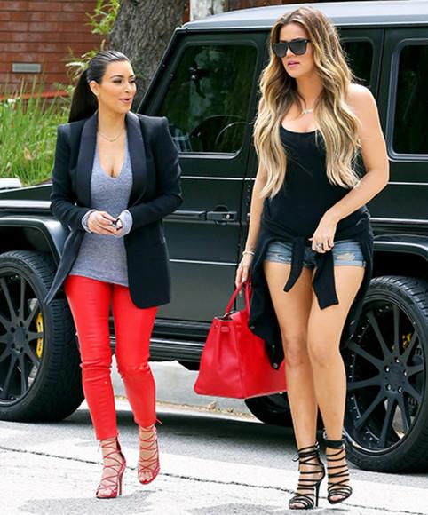 red pants red leggings kim red pants kim red leggings kim kardashian kim kardashian outfit kim kim kardashian red pants