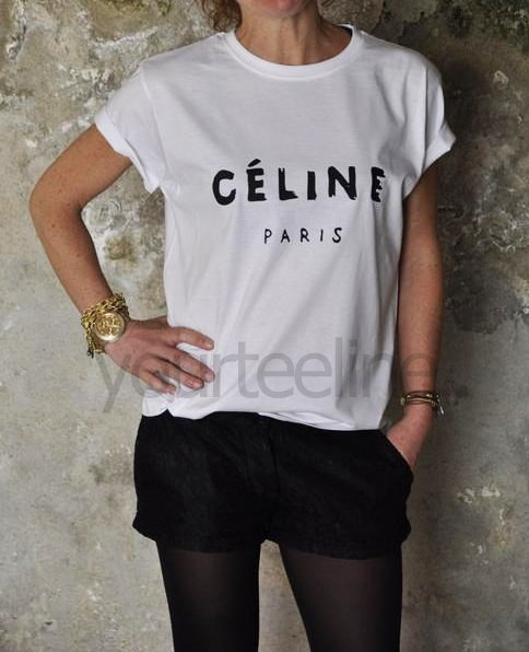Celine Paris T-shirt, Style Printed T-shirt ,women t-shirt,tshirt