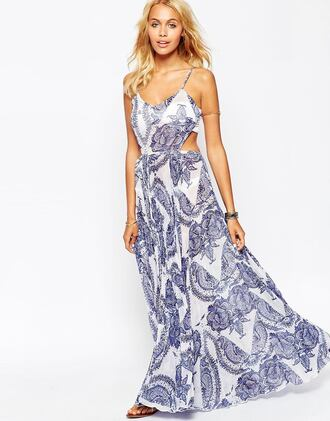 dress maxi dress printed dress porcelain print asos