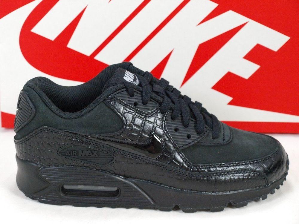 54c90fa1c1 australia nike wmns air max 90 prem premium black silver crocodile women  443817 003 ddd53 2202e