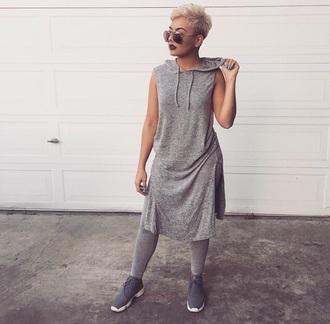 shirt hoodie sleeveless maxi