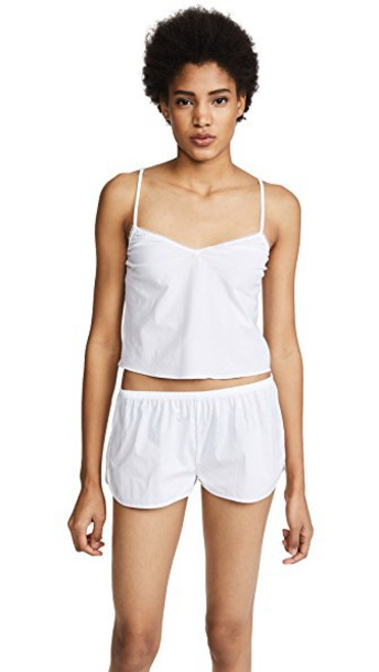 Les Girls, Les Boys camisole cotton white underwear