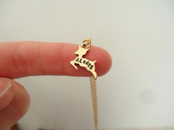 jewels deer necklace harry potter always gold chain snape beautiful nerdfighter