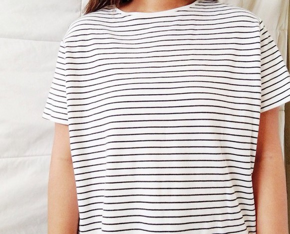 shirt striped shirt stripes t-shirt girl