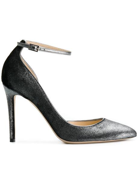 Jimmy Choo women pumps leather velvet grey shoes