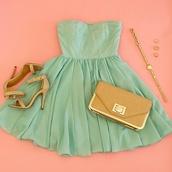 dress,clothers,mint dress