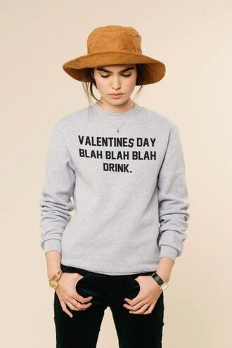 sweater grey sweater funny funny sweater quote on it galentines day