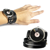 jewels,watch,black,vinyl record,vinyl,ziz watch,ziziztime