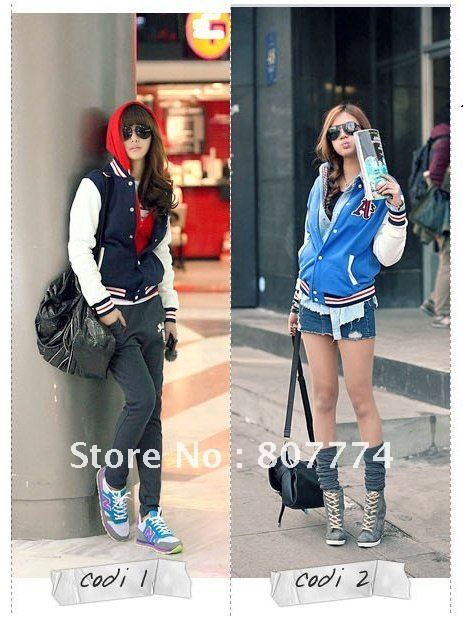 Autumn 2014 New Women's korean Sportwear A Letter Baseball Jacket Fashion Mandarine OUtwear/Coat S/M/L Fashion Freeshipping#3060-in Basic Jackets from Apparel & Accessories on Aliexpress.com