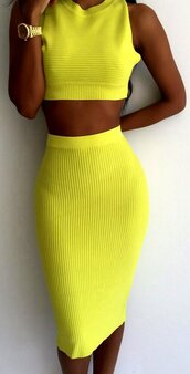 dress,tank top,crop,crop tops,cropped,yellow,ribbon,sexy,tight,cute,preppy,musthave,women,clubwear,skirt,midi skirt,sexy skirt,bodycon,sleeveless,ribbed,ribbed top,sleeveless crop top skirt set,sexy yellow,crop top skirt set,stripes,preppy dress,bodycon dress,club dress,party dress,casual dress,sexy dress,sexy party dresses,yellow party dress,street,streetwear,streetstyle,urban,date outfit,casual women,knitted ress,bandage dress,brand,midi dress,midi ribbed dress,tught dress,slim,sleeveless dress,summer,beach,holidays,holiday season,tumblr,tumblr preppy,tumblr dress,pinterest,hot dress,sexy crop clubwear,crop tops high waisted shorts,two piece dress set,moraki