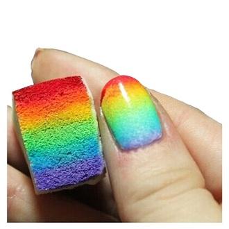 nail polish rainbow nails