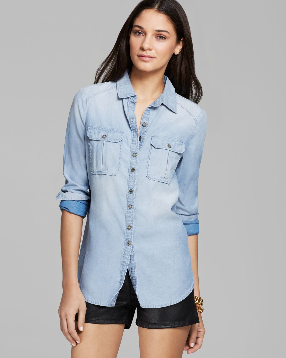 Paige Denim Shirt - Aria Denim | Bloomingdale's